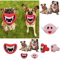 Funny Pet Dog Teeth Vinyl Toy Unique Design Puppy Chew Sound Novelty Dogs Play Toys