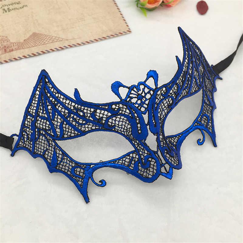 Kelelawar Renda Seksi Masquerade Masker Karnaval Halloween Pesta Topeng Hitam Putih Hot Stamping Hollow Keluar Meriah & Perlengkapan Pesta #30