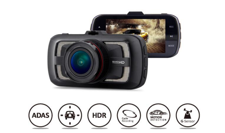 Prix pour Voiture Dvr DAB205 Ambarella A12 Puce 2560*1440 p 3.0 pouces Écran 170 Degrés Vidéo Enregistreur Dash Cam Avec G-capteur ADAS Voiture Caméra