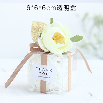 50pcs Small DIY Transparent Kraft Plastic Box Gift Box Wedding Favors Birthday Party Candy Cookie party