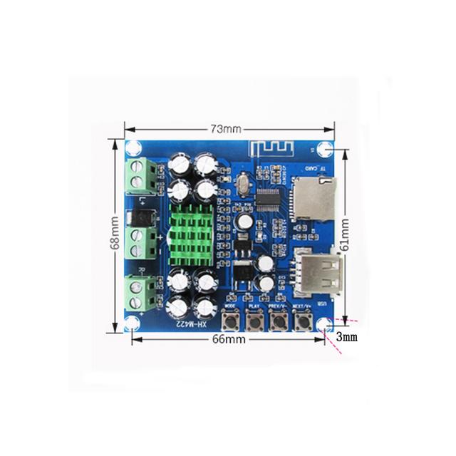 TPA3116D2 Bluetooth Amplifier Board Dual Channel 50W + 50W DC  12-24V Support TF Card U Disk Wireless Bluetooth Amplifiers