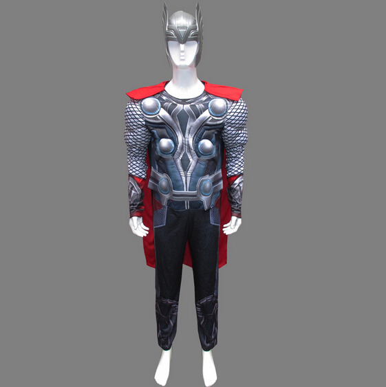 free pp Arrival Adult Cool Cosplay Avengers Movie Thor Avengers Classic Muscle Adult Costume Halloween Party costume