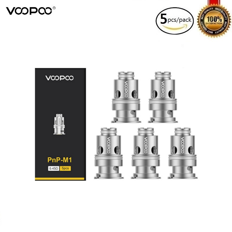 5pc/lot Original Voopoo Drag Baby Trio Pnp Coil PnP-C1 1.2ohm PnP-M2 0.6ohm PnP-R1 0.8ohm Atomizer Core For Drag Baby Vape Tank