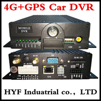 4G MDVR Network Monitoring Equipment GPS Mobile HD Car Video Recorder 4CH Bus Monitor Chinese Manufacturers
