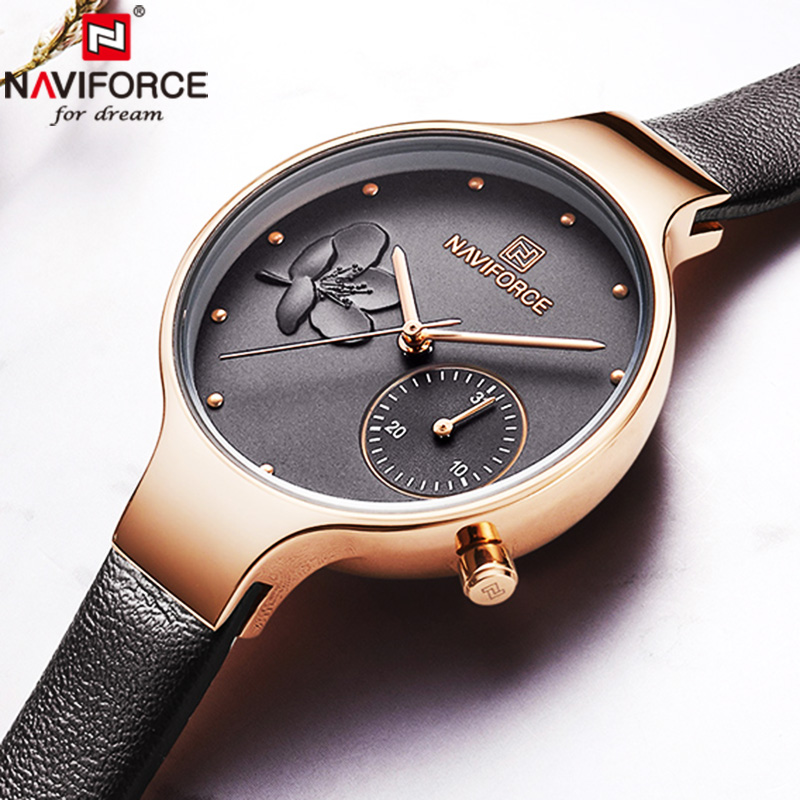 NAVIFORCE Women Watches Top Brand Luxury Watches Women Fashion Watch 2019 Woman Watch Quartz Female Clock