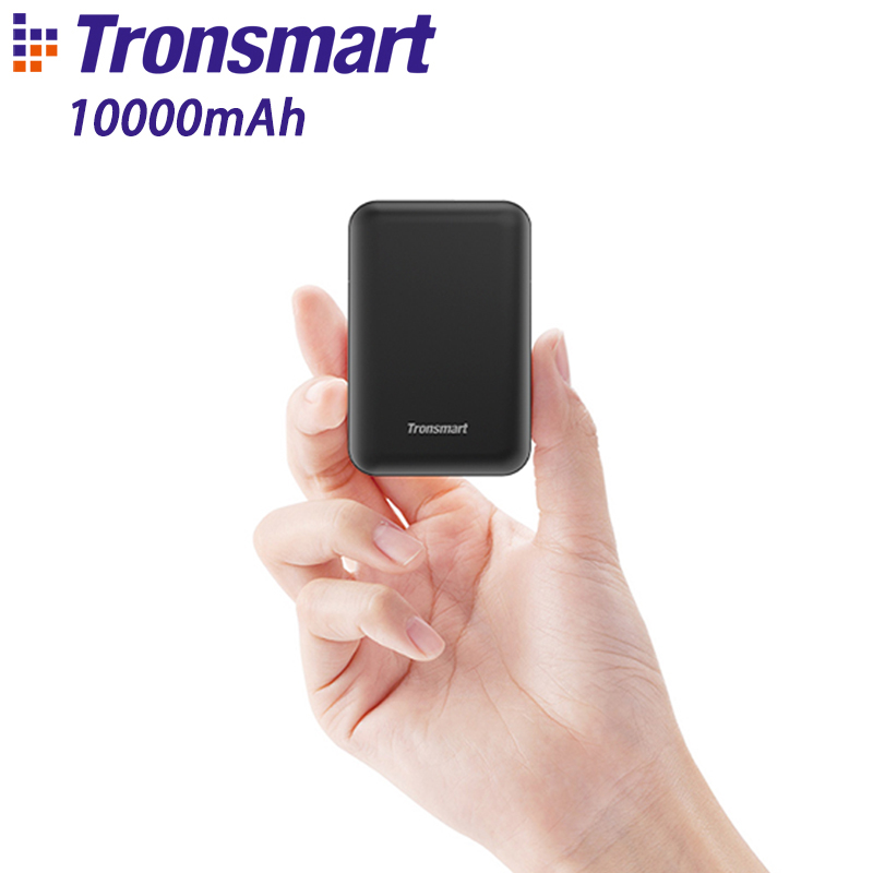Tronsmart PB10 Mini Power Bank 10000mah Fast Charge External Battery Portable Charger with LED Display for iPhone,Samsung,xiaomi-in Power Bank from Cellphones & Telecommunications