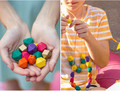 We accept custom Minimalist DIY Geometric Painted Wooden Bead Necklace 100pcs/lot