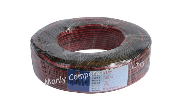 2 Pins Copper Cable Wire Extension for LED excellent quality 100m RVB 2*0.75mm Power Cable for CCTV installation