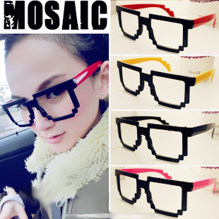 7c64e99c89 free shipping 2012 big box mosaic unique glasses frame myopia eyeglasses  frame non mainstream-in Eyewear Frames from Apparel Accessories on  Aliexpress.com ...