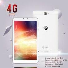 Original de la Tableta del Androide 5.1 8 pulgadas 4G Quad Core Tabletas de Internet MT8735 Tablet PC 2 GB 16 GB GPS Wifi Bluetooth 2.0MP 5.0MP Cámara
