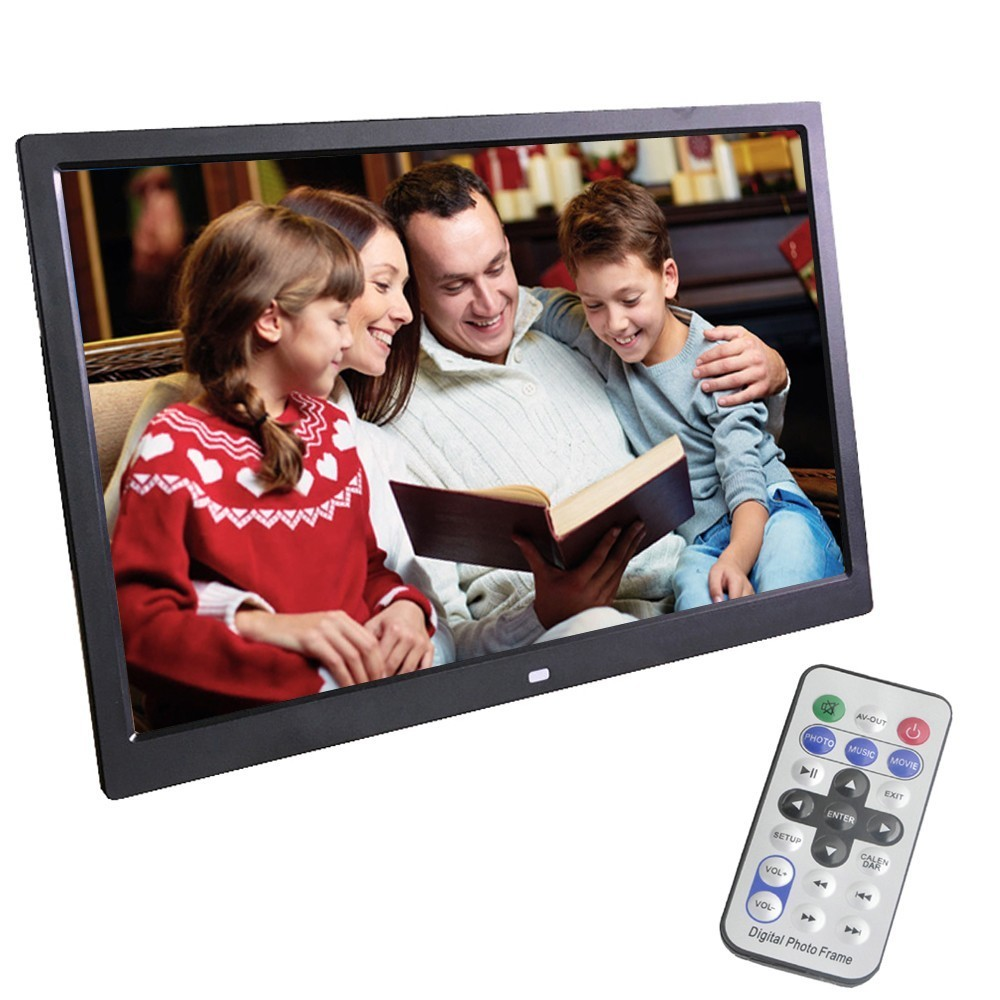 LieDao 14 Inch Digital Photo Frame Full Function LED Backlight HD 1280*800 Electronic Album Digitale Picture Music Video Good 10 inch ultra thin digital photo frame