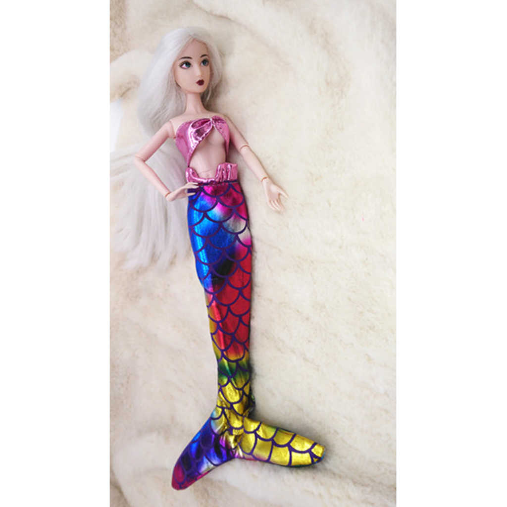 13418fab1b6 Lovely Swimsuit Mermaid Suspender Dress Swimwear Clothes For Barbie Doll  Accessory Pink