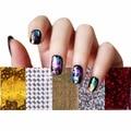 Мода 50 Случайные Много Цветов Фольги Звездное Небо Блеск Ногтей стикер Бумаги Блестящий Nail Art Наклейки 9.8x1.8x0.2