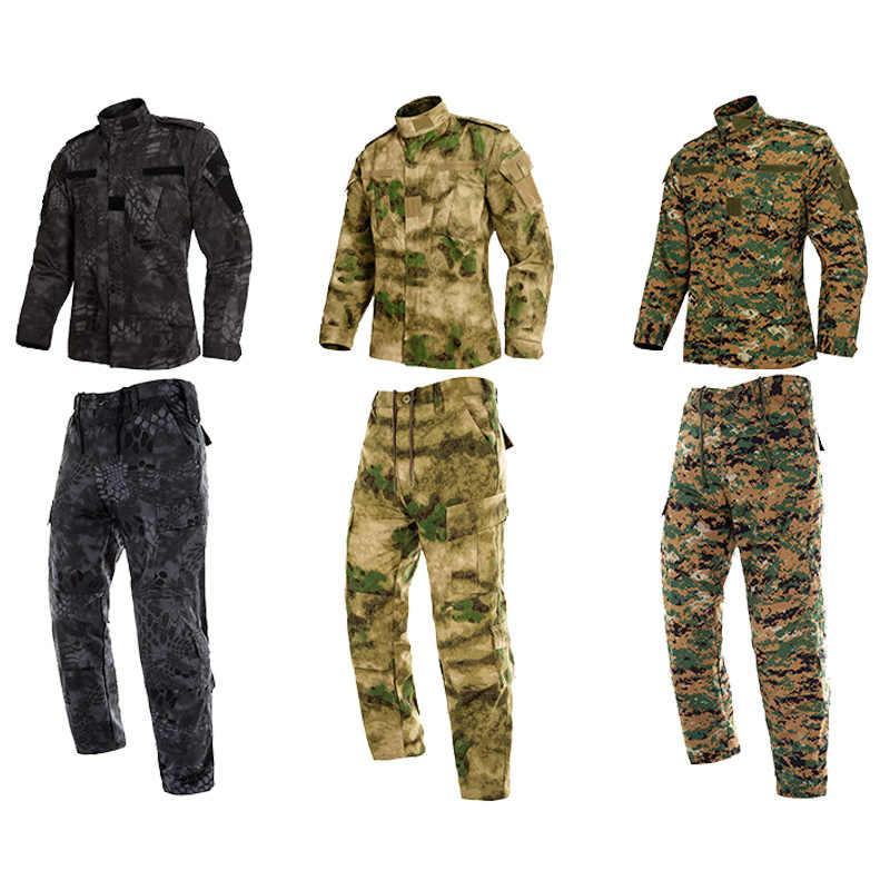MultiCam Hitam Seragam Militer Kamuflase Suit Tatico Militer Taktis Kamuflase Airsoft Paintball Peralatan Pakaian