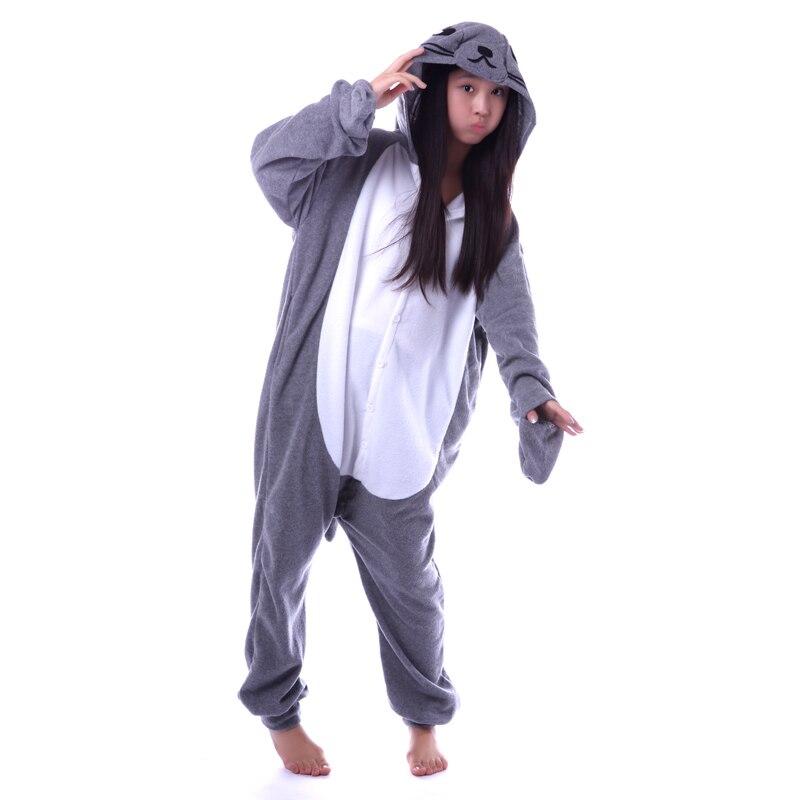 e5cafcc0b5a9 Grey Seal Onesies Unisex Sleepsuit Adult Kigurumi Pajamas Cosplay Costumes  Animal Onesie Sleepwear Jumpsuit For Man Women