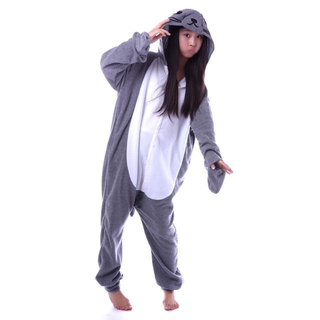 2f0418d560 Grey Seal Onesies Unisex Sleepsuit Adult Kigurumi Pajamas Cosplay Costumes Animal  Onesie Sleepwear Jumpsuit For Man Women