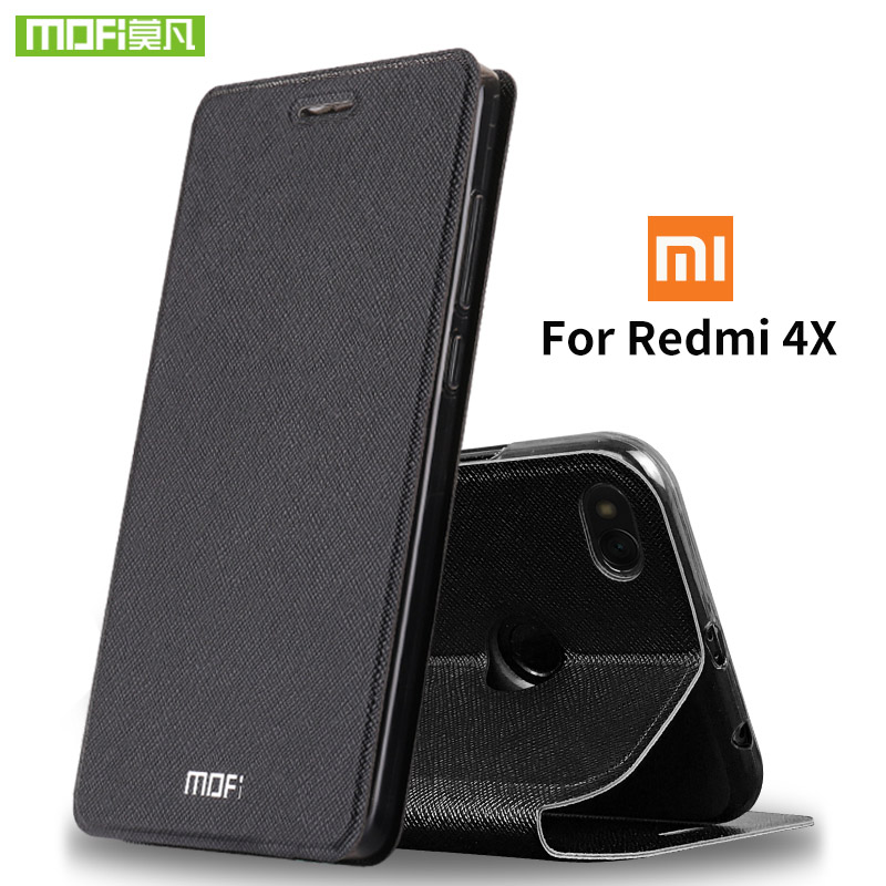 For Xiaomi Redmi 4X case For Xiaomi Redmi 4X case cover 5.0 silicone luxury flip leather 360 hard For Xiaomi Redmi 4X Pro case|case hard|case for 5|case c - title=