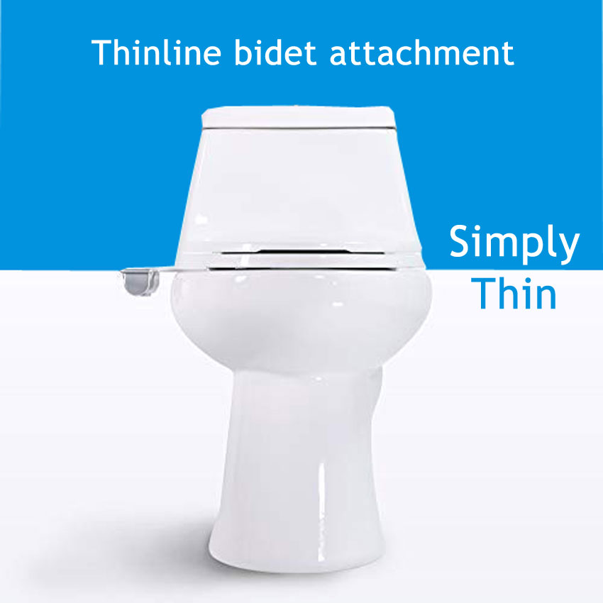 Fresh Water Spray   Non-Electric   Bidet Toilet Attachment in White with Self Cleaning Nozzle   SafeCore Internal Valve   Nozzle