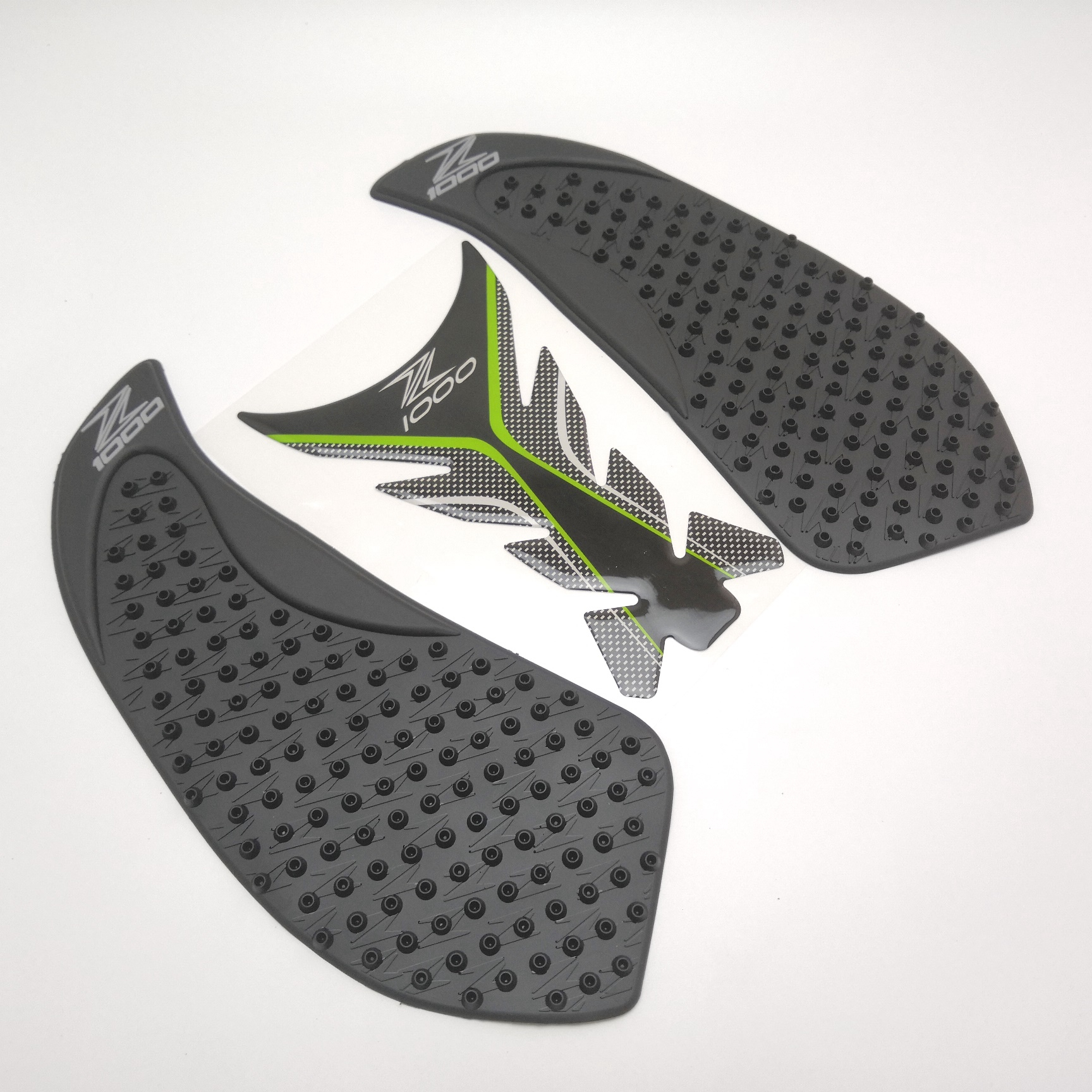 Center Tank Pad + Side Gas Knee Grip Traction Pads Protector Stickers For <font><b>Kawasaki</b></font> <font><b>Z1000</b></font> <font><b>2010</b></font> 2011 2012 2013 image