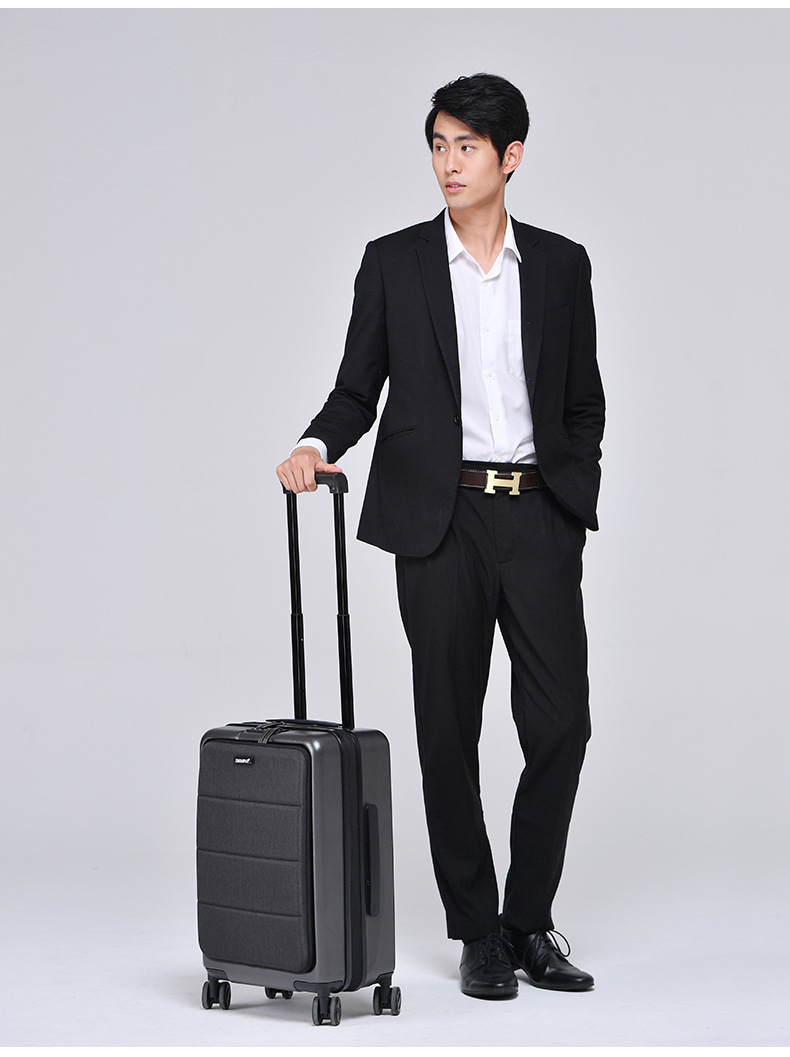 Casual Travel Trolley Luggage Aluminum Frame Alloy Business Rolling Luggage Airplane Suitcase Spinner Wheels 20inch (3)