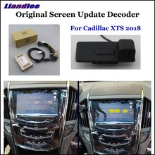 Liandlee For Cadillac XTS 2018 Original Screen Update System + Car Rear Reverse Parking Camera /Digital Decoder /Rear camera цена