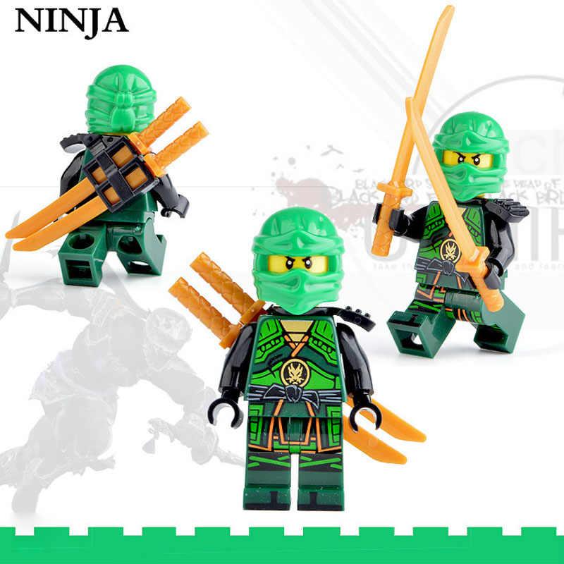 Kitoz 8pcs Ninja Spinjitzu Sensei Wu Nya Kai Jay Lloyd Cole Ninja Figure Con Le Spade Building BLock Toy Compatibile con lego