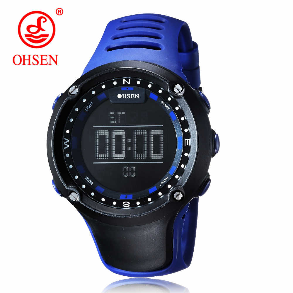 OHSEN Brand Watch Men Military Sports Watches Fashion Rubber Waterproof LED Quartz Watch For Men's Clock Man Relogio Masculino