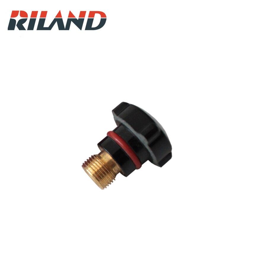 RILAND 10pcs  TIG Welding Torch Head Short TIG Back Cap Welding Accessories  For TIG Welding Torch SR WP-17 18 26 Series