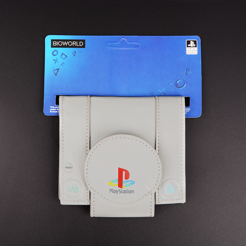 Very cool lovely gift wallet classic TV game console retro style play station 1 shape psone wallet ps1 souvenir wallet P032 retro mini family console 8 bit classic tv game consoles with 500 games
