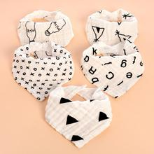 Babador Baby Bandana Bibs Cotton Babadores Para Bebe infant newborn Saliva Towels for kids dribble bibs Infant Head Scarf R2(China)