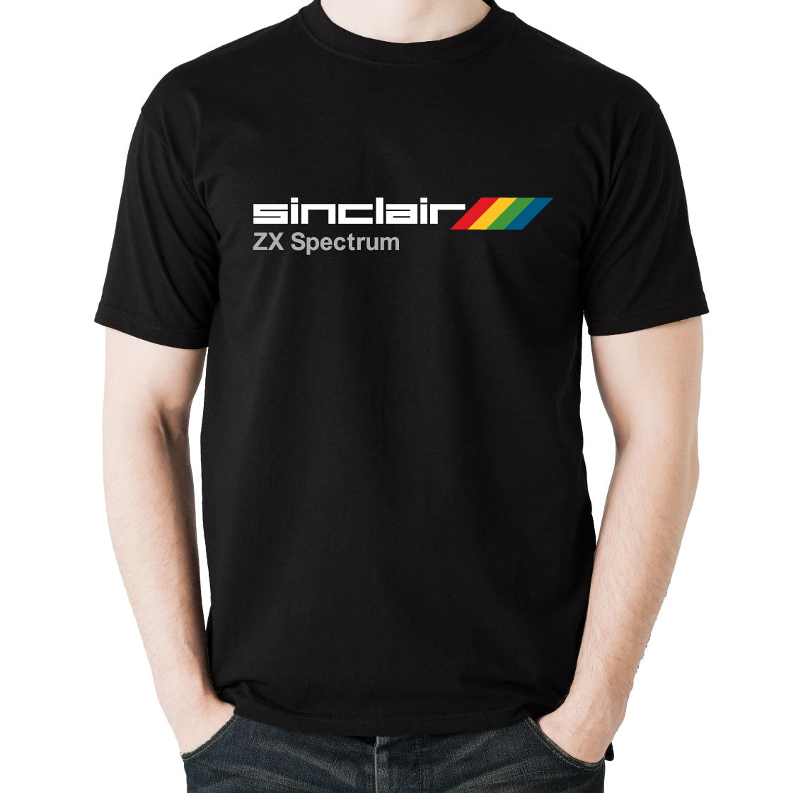 Tee Shirts Personality Inspired By Sinclair Zx Spectrum Gray Men T-Shirt Full T Shirt For Mens