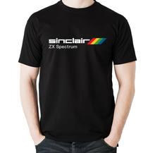 T-shirts para homem t-shirts completas para homem t-shirts personalizadas inspiradas por sinclair zx spectrum gray