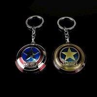 Marvel Captain America Shield Keychain (2 Colors)  2