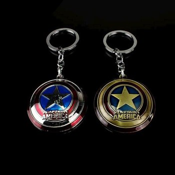 Marvel Captain America Shield Keychain (2 Colors)  2