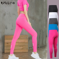 WBTRO Reflective Quick Dry Yoga Pants High Waist Breathable Women Sport Trousers Full Length Fitness Leggings with Hidden Pocket