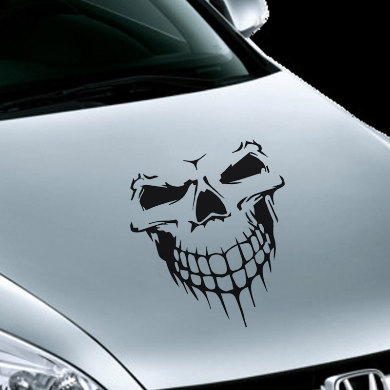 Image 3 - 16CM*18CM Car Stickers JDM 3D Skull Car Window PVC Vinyl Motorcycles Decoration Funny Car Sticker and Decals Car Styling-in Car Stickers from Automobiles & Motorcycles