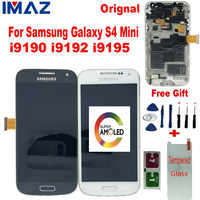 IMAZ Orignal AMOLED LCD For Samsung Galaxy S4 Mini i9190 i9192 i9195 LCD Display Touch Screen Digitizer Assembly For I9195 LCD