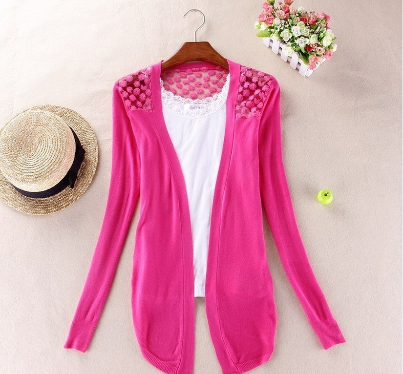 82c0bac3456 Spring New Style Summer Autumn Plus Size Jackets Girl Women s Lace ...