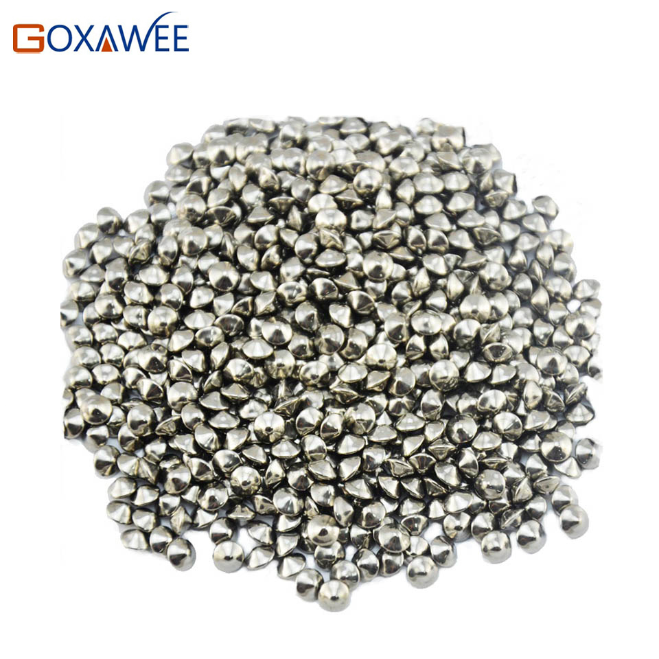 GOXAWEE Jewelry Tools Ball Cones Polishing Media for Rotary Tumbler Jewelry Polishing Tumbler Accessories Oval Polishing