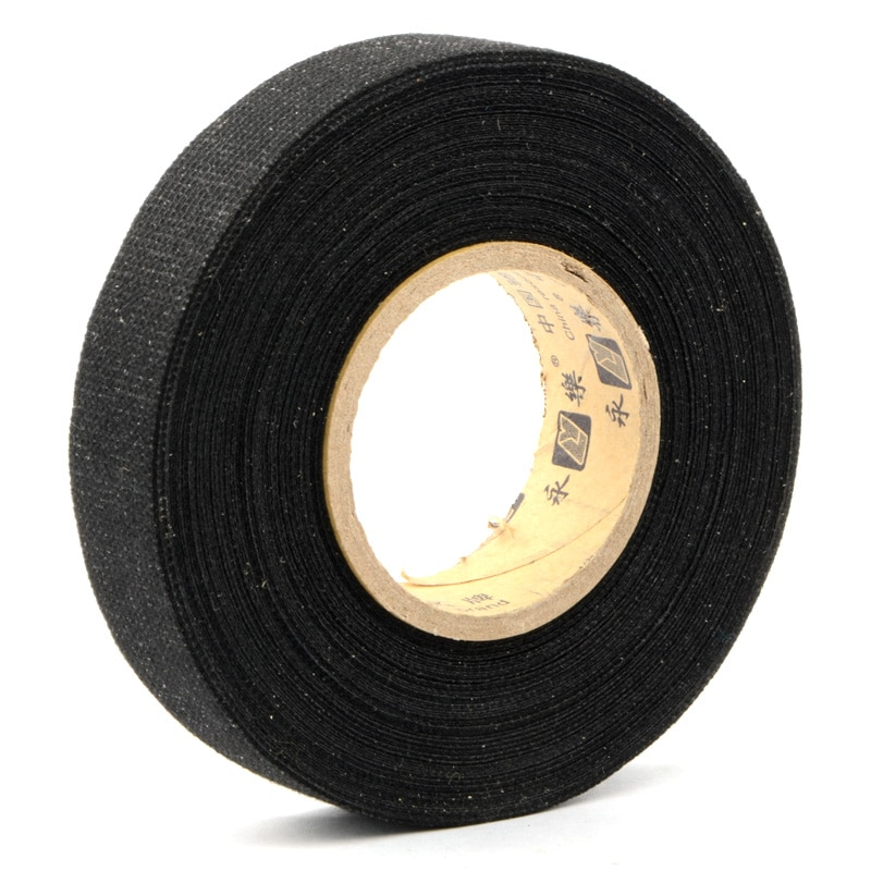 2019-new-19mmx15m-black-tesa-coroplast-adhesive-cloth-tape-for-cable-harness-wiring-loom