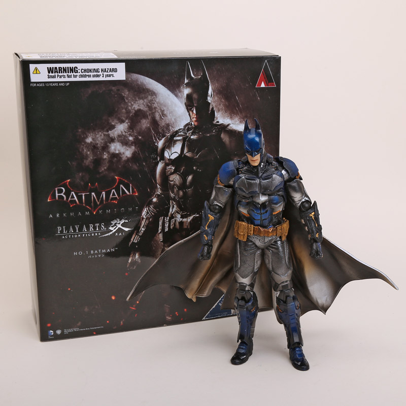 Playarts KAI Batman Arkham Knight Batman Blue Limited Ver. PVC Action Figure Collectible Toy 28cm набор фигурок batman arkham city batman vs bane 2 в 1 25 см