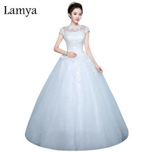 Lamya Extra Large Size Fashion Womens Wedding Dress Cut-out Red Bride Gowns Cheap Ball Gown Off White robe de mariee