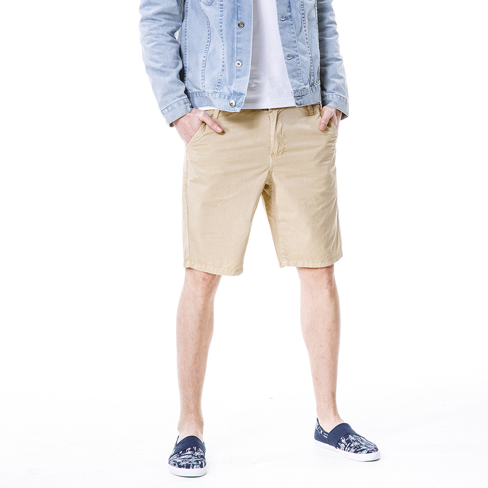 Men's Fashion Realm Casual Pure Color Outdoors Pocket Beach Work Trouser Cargo Beige Shorts Beach Sport Training  Combat W30418