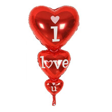 80x40cm baloon big i love you balloons party decoration heart engagement anniversary weddings valentine balloons
