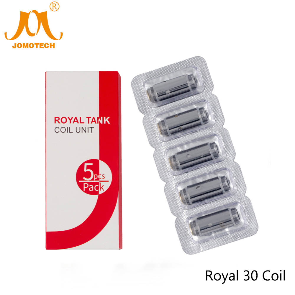 5pcs/Pack Jomo Royal 30 Coil 0.6ohm Electronic Cigarette Atomizer Core Stainless Steel Replacement Coil for Royal 30 Jomo-C11