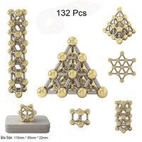 132 шт DIY Магнитная конструкция набор магнитные стержни и шары строительные блоки Набор игрушек, металлические головоломки офисные игрушки