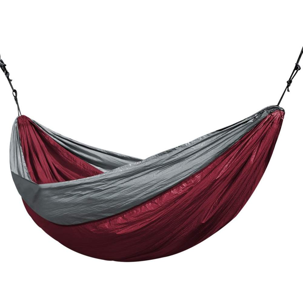 Universal 3.2*2M Larger Size Double Color Nylon Camping Hammock Lightweight Portable Summer Beach Travel Hammock lightweight hammock big hammock amaca camping