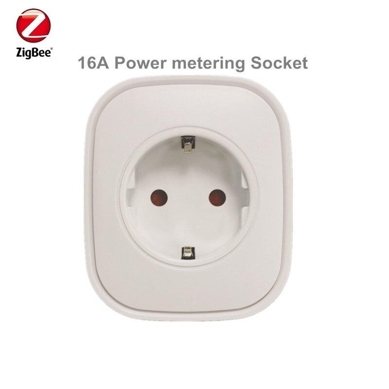 Preço de promoção Heiman Zigbee Controle Plug Power On off Tomada De Medição De Potência de Casa Inteligente Dispositivo Via Zona Inteligente App