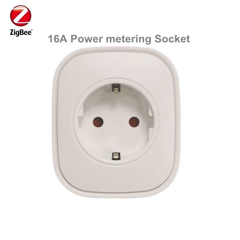 Promotion Price Heiman Zigbee Power Metering Plug Control Power On off Socket Smart Home Device Via Smart Zone App