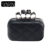 2013 New Leather Handbag Bag Retro Skull Ring Clutch Bag Messenger Bag